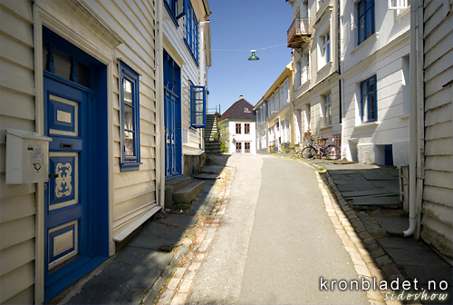 Bergenssmau Traditional narrow city street (smau) characteristic of the city of Bergen